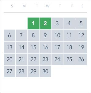1-Day Tier 2 Ticket calendar good to go: June 1 to 2